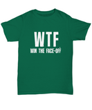 WTF Win The Face Off Funny Hockey T-Shirt - lkrseller, Shirt / Hoodie ,