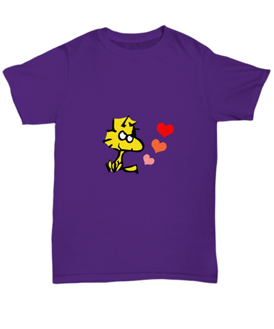 Woodstock Yellow Bird Charlie Brown Hearts T-Shirt - lkrseller shirts Shirt / Hoodie, t-shirts, hoodies, tank tops, custom