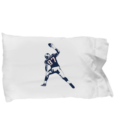 Tight End Touch Down Spike Gronk Bedding Pillow Case - lkrseller, Pillow Case ,
