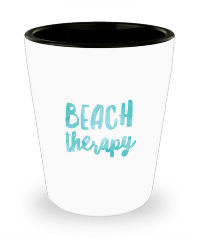 Beach Therapy For Ocean Sun Lovers Shot Glass - lkrseller, Shot Glass ,