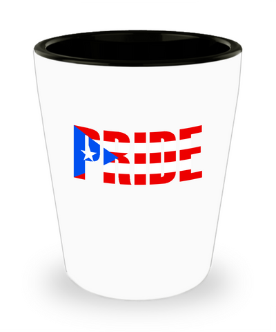 Puerto Rican Pride PR Drinking Shot Glass - lkrseller, Shot Glass ,