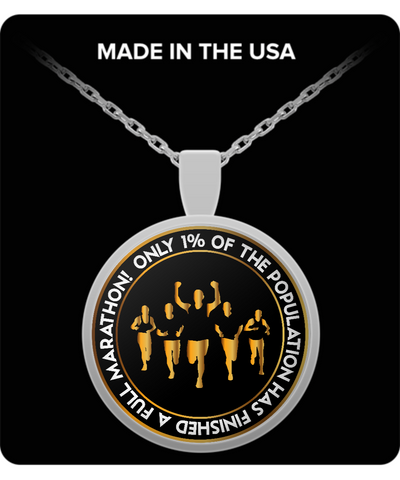 Only 1% Finished a Marathon For Runners Necklace Pendant Chain - lkrseller, Necklace ,