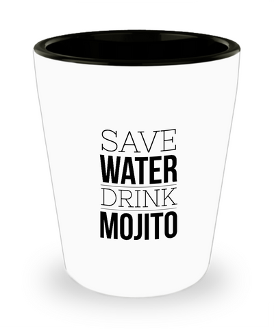 Save Water Drink Mojito Drinking Shot Glass - lkrseller, Shot Glass ,