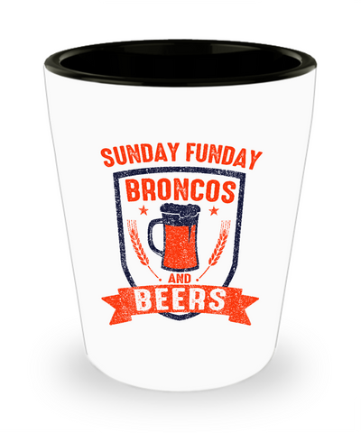 Sunday Funday Broncos And Beer Drinking Shot Glass - lkrseller shirts Shot Glass, t-shirts, hoodies, tank tops, custom