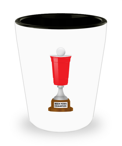Beer Pong Cup Champion Trophy Drinking Shot Glass - lkrseller, Shot Glass ,