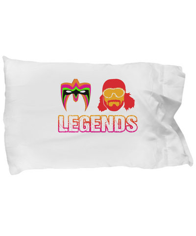 Legends Warrior Mask Randy Savage Wrestling Bedding Pillow Case - lkrseller, Pillow Case ,