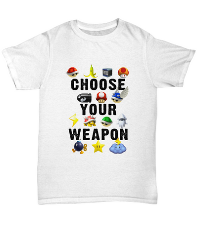 Choose Your Weapon Vintage Video Games Gamer T-Shirt - lkrseller, Shirt / Hoodie ,