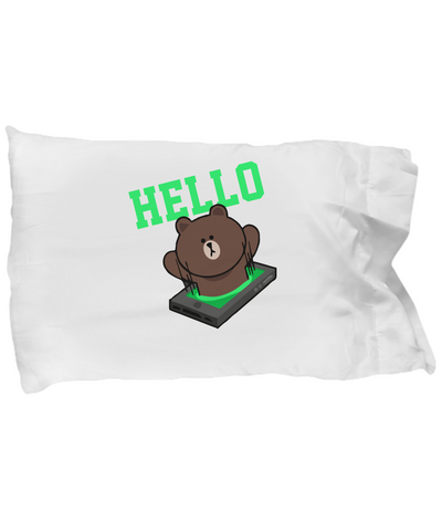 Hello Teddy Cute Teddy Bear Bedding Pillow Case - lkrseller, Pillow Case ,