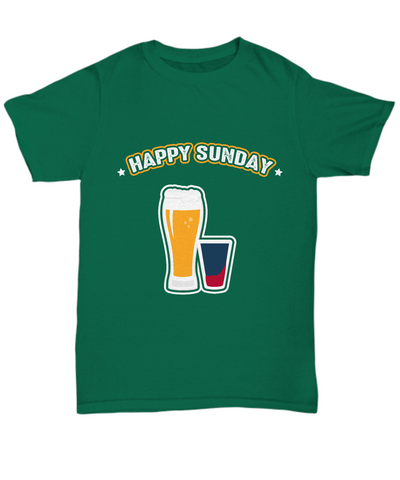Happy Sunday Beers and Drinks Pint Drinking T-Shirt - lkrseller, Shirt / Hoodie ,