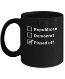 Republican Democrat Pissed Off Coffee Mug - lkrseller, Mugs ,