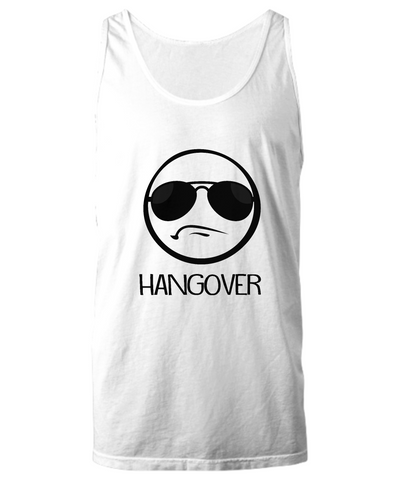 Hangover Funny Party Emoji With Shades Tank Top - lkrseller, Tank Tops ,
