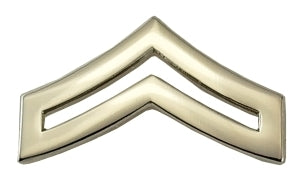 CPL Chevrons, 2 Posts & Clutch Backs, Pairs
