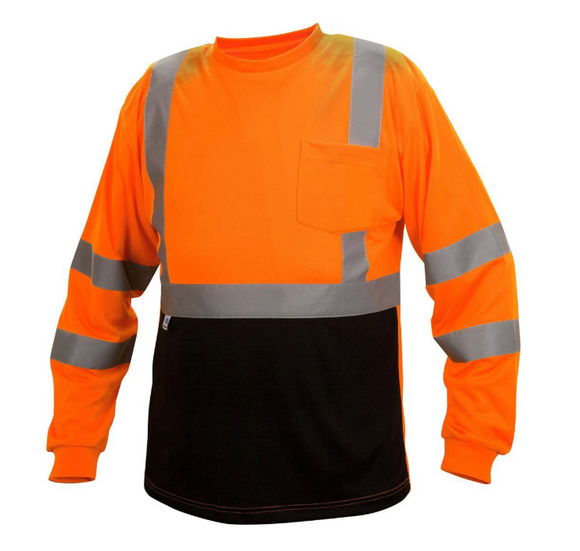 Type R Class 3 Black Bottom Wicking Birdseye Mesh Safety Shirt