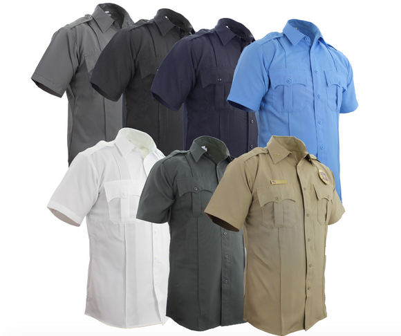FIRST CLASS 100% POLYESTER SHORT SLEEVE UNIFORM SHIRT