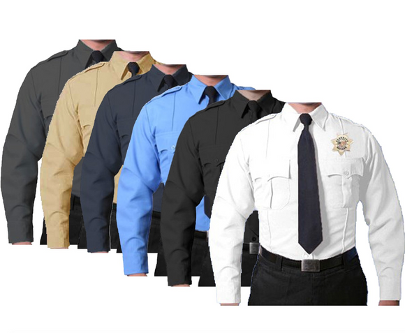 FIRST CLASS 100% POLYESTER LONG SLEEVE UNIFORM SHIRT