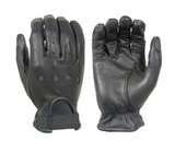 Damascus D22 Leather Driving Gloves Full-Finger Unlined, Black