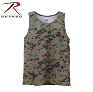 Rothco Camo Tank Top Woodland Digital Camo