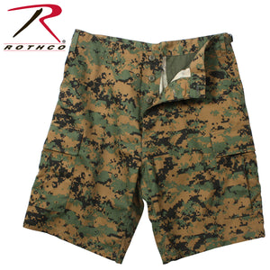 Rothco BDU Cargo Shorts- Woodland Digital Camo