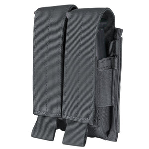 Charcoal Grey Condor Double Pistol Mag Pouch