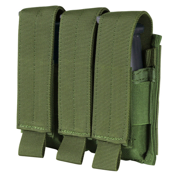 Army Green Condor Triple Pistol Mag Pouch