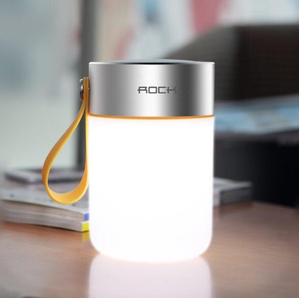 Rock led Bluetooth speaker with warm light
