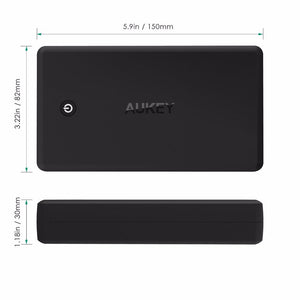 AUKEY 30000mAh quickcharge 3.0 Powerbank with cable