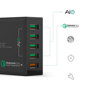 AUKEY 54W 5 Port USB Desktop Wall Charger