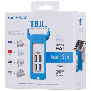 Momax U.Bull 4 Port Wall Charger