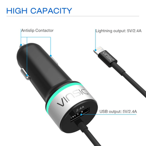 Vinsic Car Charger With Lightning Cable