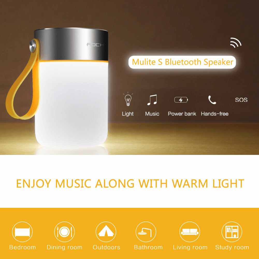 aedc45edaf7 Rock led Bluetooth speaker with warm light