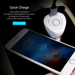Rock Bluetooth headset and car charger for answering hands-free calls