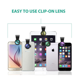 AUKEY 3 in 1 Clip-on Smartphone Camera Lens