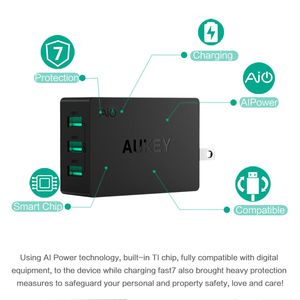 AUKEY 3 port USB Wall Fast Charger
