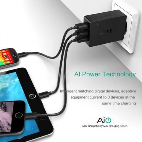 Aukey 3 port Wall Charger