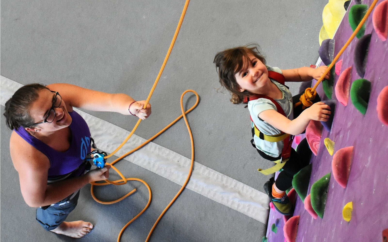 kid's rock climbing summer camp at Origin Climbing & Fitness