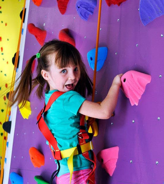 Kids in the Climbing Academy
