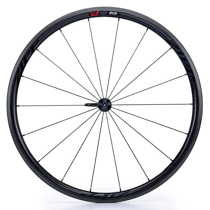 Zipp 202 V3 Firecrest Carbon Clincher Front Wheel - White Decal