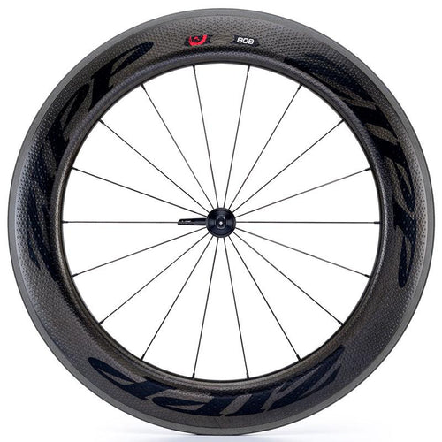 Zipp 808 V3 Firecrest Carbon Clincher Front Wheel - Black Decal