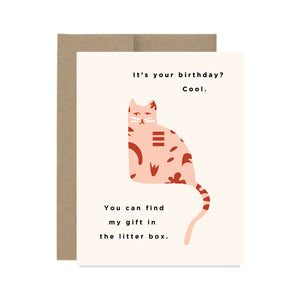 Birthday Cat - Card