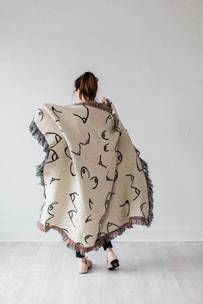Boobiful Blanket - woven throw