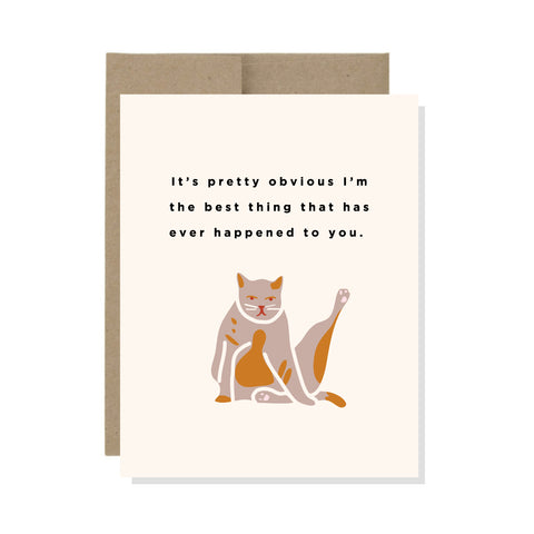 Best Thing Cat - Card
