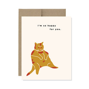 Happy Cat - Card