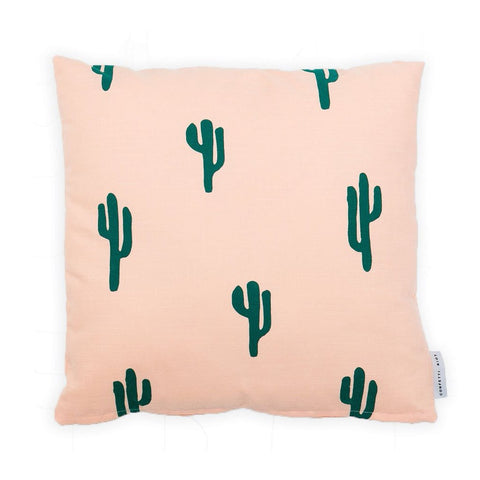 Cactus Pillow Cover - Peach