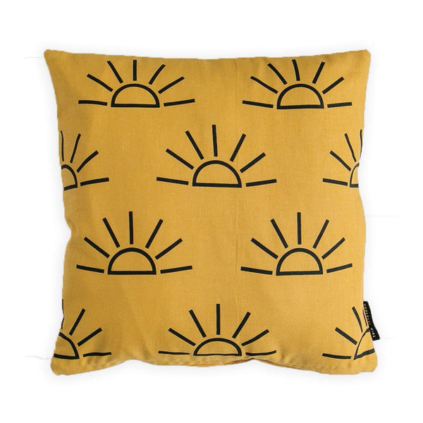 Sunrise Pillow Cover - Mustard