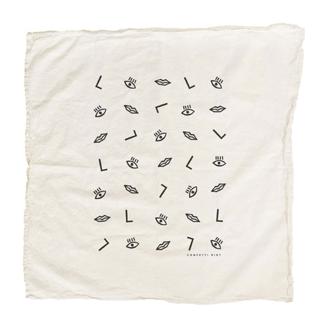 Confetti Face Tea Towel