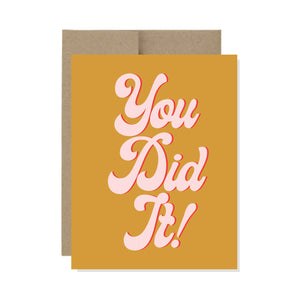 You Did it - Card