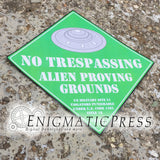 "Alien Proving Grounds, Area 51 novelty Sign, 12""x12"" Digital Download, home printable PDF"