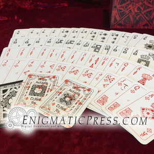 Hellraiser movie themed playing cards, complete deck, digital download print at home