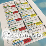 Editable Prescription Labels with Crosses, medication stickers, fit 16 to 40 dram, DIY  PDF, instant digital download home printable