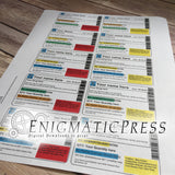 Editable Prescription bottle labels, pharmacy styles, 16 to 40 dram, easy DIY PDF, instant digital download print at home